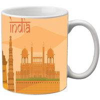 MeSleep Beige India Republic Day India Mug