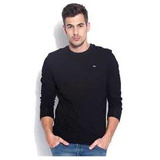 Lee Black Round Neck Sweatshirt for Men