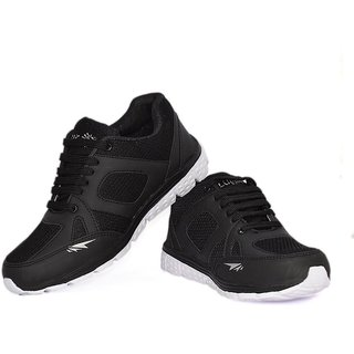 Blue Pop MenS Black Running Shoes