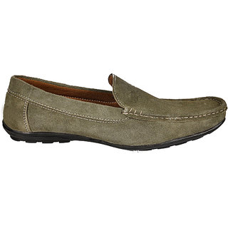 Kewl Instyle Olive Modern Men's Slip On Loafer