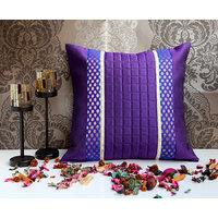 ANS Violet Cushion Cover With Purple Gold Brocade