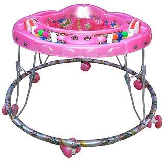 Abasr Baby Kids Multicolour Walker Pink Foldable