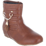 Shuz Touch Women Tan Zip Boots