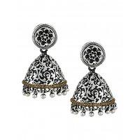Zaveri Pearls Attention-getting Oxidised Jhumki Earring - ZPFK5709