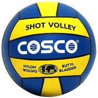 Cosco Shot Volleyball, Size - 4,  Multicolor (Diameter - 8.1)