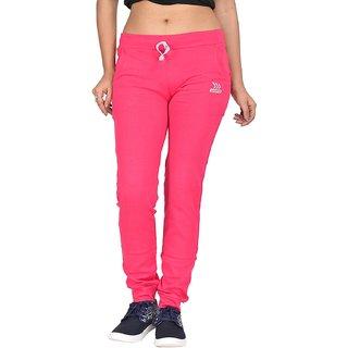 Be You Fashion Women Cotton Hosiery Pink Plain Joggers Pants