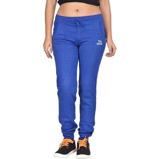Be You Fashion Women Cotton Hosiery Royal Blue Plain Joggers Pants