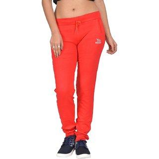 Be You Fashion Women Cotton Hosiery Red Plain Joggers Pants