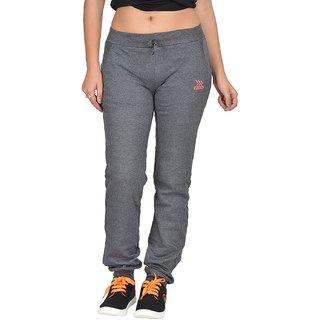 Be You Fashion Women Cotton Hosiery Charcoal Grey Plain Melange Joggers Pants