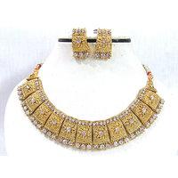 Beautiful White Stone Chokker Necklace Set