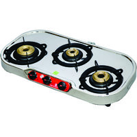 Signoracare Stainless Steel Gas Stove Three (3) Burner
