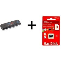 UNLOCKED BSNL 3G Data Card 7.2 Mbps WITH Free Sandisk 8GB Micro SD Memory Card