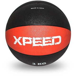 Xpeed Medicine Ball Rubber in Double Color (Color May Vary) (3 KGS)