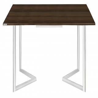 Folding Metal Leg Console to Convertible Dining Table From Eurocoustic Products Limited(EPL MODULAR) Dark Brown Finish