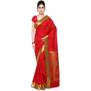Varkala Silk Sarees Woven Art Silk Paithani Pallu SareeRedJP7102RDRD