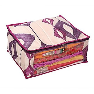 Kuber Industries Heavy Quilted Large Saree Cover (With Capacity of upto 15 Sarees) KI001740