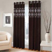 BSB Trendz Panle Print Pack Of 2 Door Curtain (P-124)