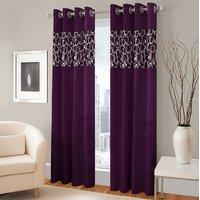 BSB Trendz Panle Print Pack Of 2 Door Curtain (P-125)