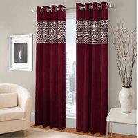BSB Trendz Panle Print Pack Of 2 Door Curtain (P-126)