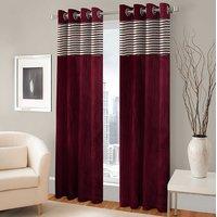 BSB Trendz Panle Print Pack Of 2 Door Curtain (P-127)
