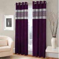 BSB Trendz Panle Print Pack Of 2 Door Curtain (P-131)