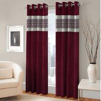 BSB Trendz Panle Print Pack Of 2 Door Curtain (P-133)