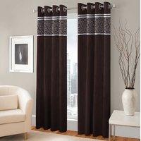 BSB Trendz Panle Print Pack Of 2 Door Curtain (P-134)