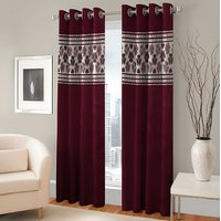 BSB Trendz Panle Print Pack Of 2 Door Curtain (P-142)