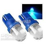 2 X Car Auto BLUE LED T5 1 Led Wedge LED Light Bulb Lamp Car/bike