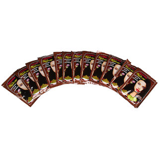 SHAMA Nikhar Brown Coloured Hair Mehandi for Unisex 45 gms Each - Pack of 12