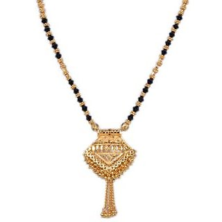 Pourni Gold Plated & Bids Mangalsutra-P750Ms24