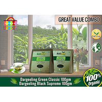 Darjeeling Green Classic Tea (100 Gms) + Darjeeling Black Supreme Tea (100 Gms)