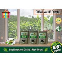 Darjeeling Green Classic Tea (50 Gm) - Pack Of 3 (Super Saver Offer)