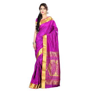Varkala Silk Sarees Woven Art Silk Paisley Pallu SareePurple and VioletJP7105PV