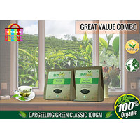 Darjeeling Green Classic Tea (Pack Of 100 Gms + 100 Gms) - Super Saver Offer