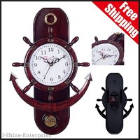 Decorative Retro High Quality Anchor Brown Pendulum Wall Clock Watch - Home Office Decor Furnishing