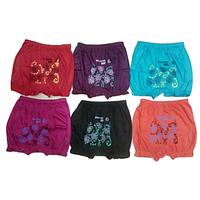 Multicolor Girls Printed Bloomer Pack of 12