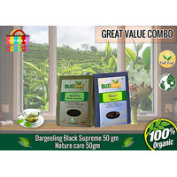 Darjeeling Black Supreme Tea (50 Gm Pack) + Nature Care Tea (50 Gm Pack)