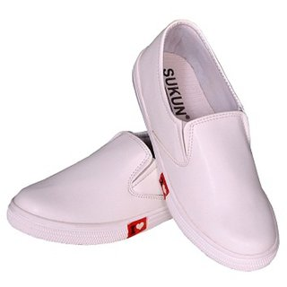 Sukun Womens White Loafers