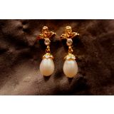 Simply You - White - Pearl Drop Shaped Earrings