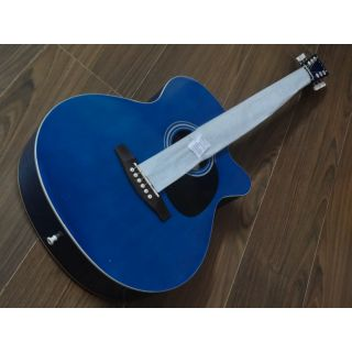 JIMM Acoustic Guitar   Blue (With Digital Tuner On Body) available at ShopClues for Rs.5900