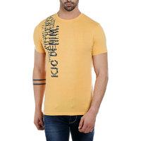 KILLER Men'S Cotton Yellow T-Shirt