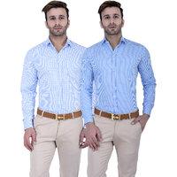 Lee Marc Checks Regular Fit Shirt for Men (Pack Of 2)