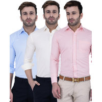 Lee Marc Men'S Multicolor Regular Fit Casual Shirt
