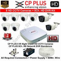 cp plus white cameras and Black dvr