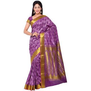 Varkala Silk Sarees Woven Art Silk Modern Paisley Rich Zari Pallu sareeLavender and VioletJP8103LV