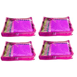 Atorakushon Pack Of 3 Saree Salwar Suit Cover Dress Protection Cover Garment Storage Box Bg