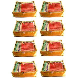 Atorakushon Pack Of 8 Saree Salwar Suit Cover Dress Protection Cover Garment Storage Box Bg