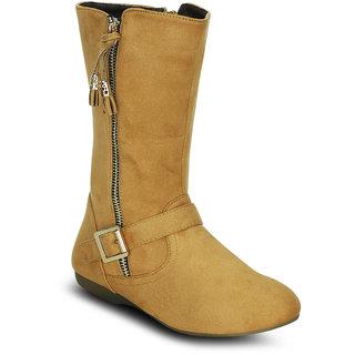 Kielz Women Beige Zip Boots ]