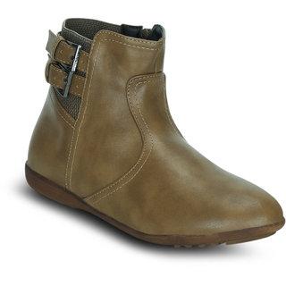 Kielz Women Brown Zip Boots